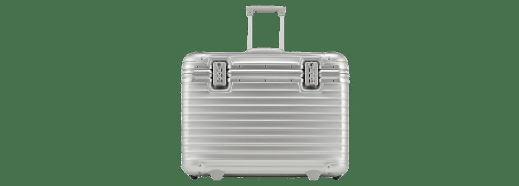 aluminium pilotenkoffer met wieltjes