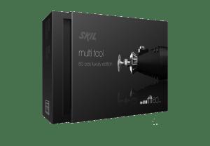 presentatie van cassette met doos en foam inlay voor multitool
